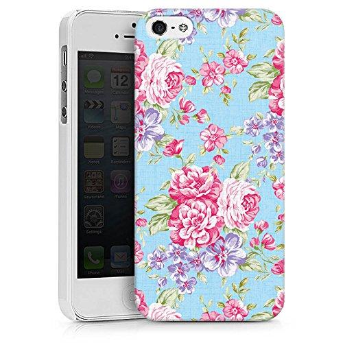 Apple iPhone X Silikon Hülle Case Schutzhülle Retro Frühling Flower Hard Case weiß