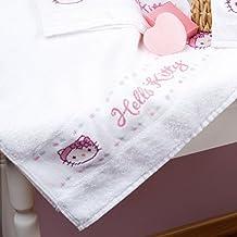 Vervaco - Juego de 2 toallas de baño, diseño de Hello Kitty, multicolor