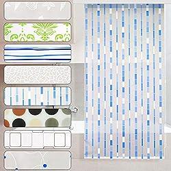 casa pura Store de Douche Mosaic | antibactérien | sans plastifiant | écologique | Fixation Plafond | 4 Tailles - 100x240cm