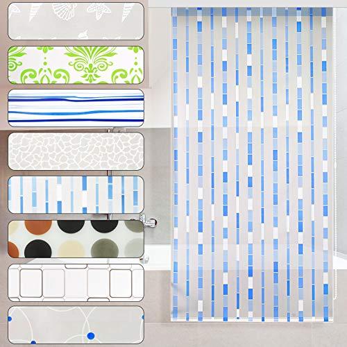 casa pura Modernes Duschrollo Mosaic mit Kassette | schnelltrocknendes Rollo für Dusche und Badewanne | bis zu 240 cm Länge ausziehbar | zahlreiche Breiten wählbar (Breite 100 cm)