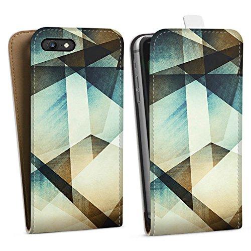 Apple iPhone X Silikon Hülle Case Schutzhülle Muster Grafisch Grün Downflip Tasche weiß