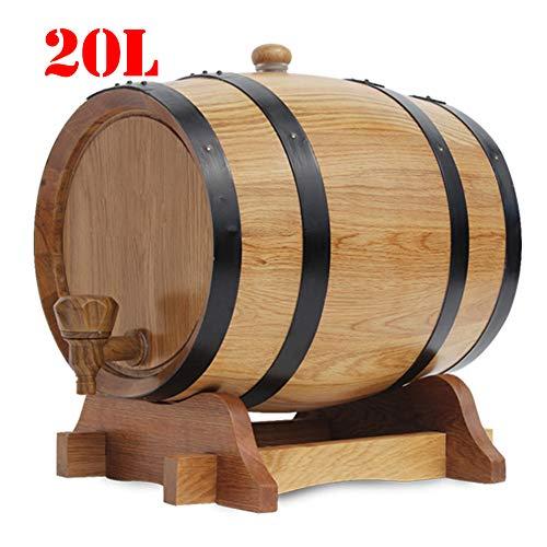FYJTL Weinfass - Keine Leckage Weinbereitung Holzwaren Kein Liner Eichenfass Holzfass Zapfhahn Massives Schnapsfass Quality Unlackiertes Holzfass,1