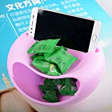 #7: Onlix Multifunctional Plastic Fruit Dish Snacks Nut Melon Seeds Bowl Double Layer Candy Plate Peels Shells Storage