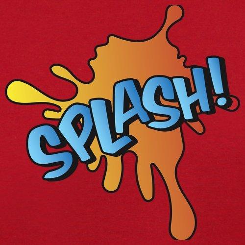 Superheld Splash - Herren T-Shirt - 13 Farben Rot