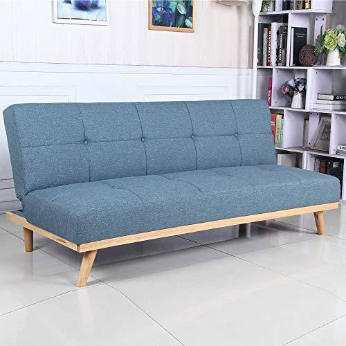 Sofá Cama 3 plazas Clic Clac Rimen Azul tapizado con Tela 100%...