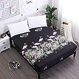 PENVEAT Flamingos Printing Bed Sheet Schöne Bär Spannbetttuch mit Gummiband für Kinder Polyester Brushed Matratze Protector, HHLN, 200X200cmX25