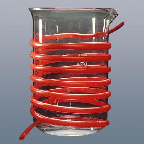 Thomafluid Silikon-Wärmeaustauscher-Profil-Schlauch, Werkstoff: Silikon, Sohlenbreite: 30 mm, 2 m