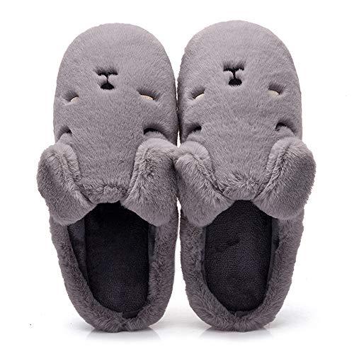Slippersxsj pantofole di cotone semplici e comode pantofole da uomo in cotone morbido e caldo, 44-45 / 27cm