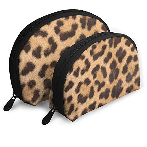 Juego Bolsa Maquillaje diseño Piel Leopardo Viajes