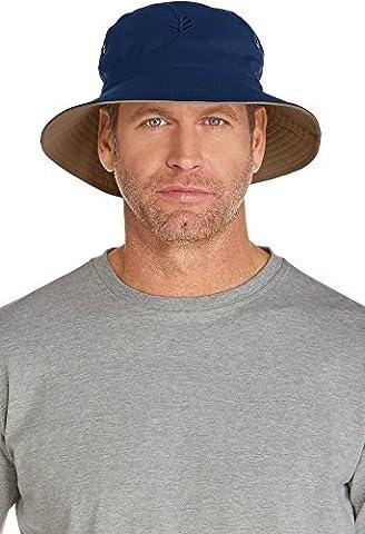 coolibar Chapeau réversible UPF 50+ UV Seau Hat–Bleu, Taille 10/S