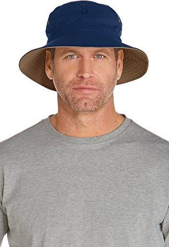 b5ae45b98a0 Coolibar Chapeau réversible UPF 50 + UV Seau Hat – Bleu, Taille 10/S