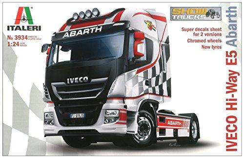 Italeri 3934 iveco hi-way e5 abarth model kit camion show trucks plastica scala 1:24