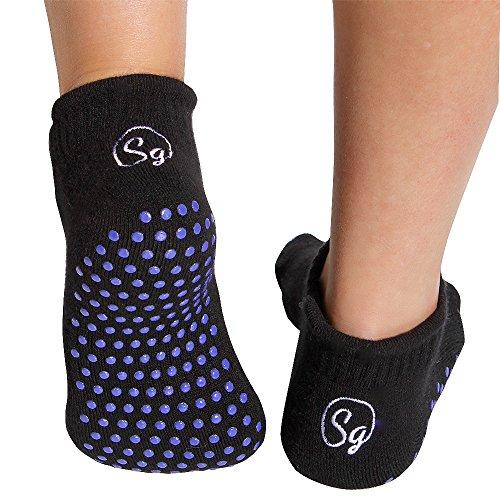 Rutschfest Socken für Krankenhaus Rehabilitation Krankenpflege Home Chemo und Senioren. Luxus Bambus Pantoffel Socken. Verhindern Sie Fälle mit Sicherheitsgreifer Socken (2pack) (Klein EU 35 - 37)