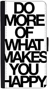 Snoogg Do More Of What Makes You Happydesigner Protective Flip Case Cover For...