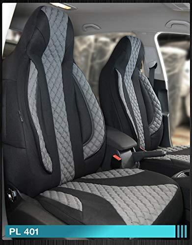 Maß Sitzbezüge Ford Focus 1 Fahrer & Beifahrer ab BJ 1998-2004 Farbnummer: PL401 - 1998 Ford Sitzbezug