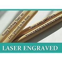 Baguettes personnalisées, disponibles en 5A, gravées au laser, cadeau parfait, en bois d'érable de haute qualité