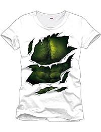 Unbekannt Hulk Body T-Shirt Weiß