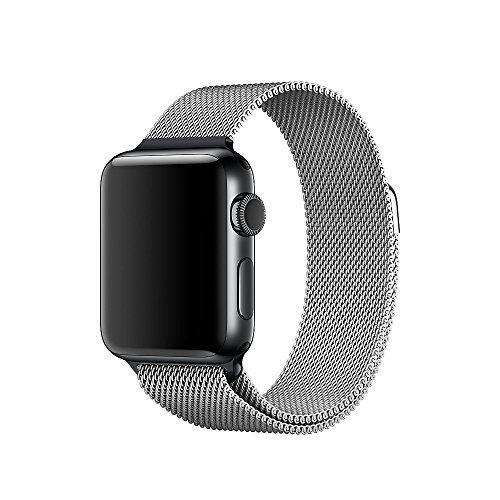 Apple Watch Band, sundatom Einzigartige Magnet Lock, 38mm Milanaise Loop Edelstahl Stahl Armband Band Strap für Apple Armbanduhr 38mm alle Modelle keine Schnalle notwendig