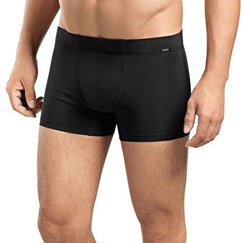 Hanro Herren Cotton Essentials Pants TwoPack Hipster, Schwarz (Black 0019), 48/50 (Herstellergröße: M) (2er Pack
