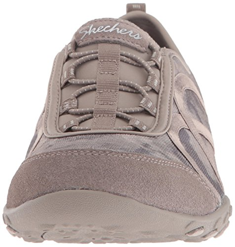 Skechers Breathe-easy meadows, Baskets Basses femme Taupe Mesh/Suede