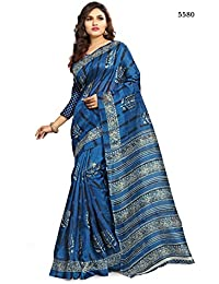 Ajs Women'S Cotton Raw Silk Saree With A Zari Border With Blouse Piece (P5580A_Multi-Colour)