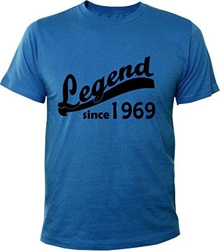 Mister Merchandise Uomo Men T-Shirt 46 47 Legend since 1969 , Maglietta Camicia Taglia: XL, Color: Royal