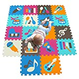 MQIAOHAM playmat Foam Play Tiles Interlocking Play mat Baby Play mats for Kids Floor mats for Children Foam playmats Jigsaw mat Baby Puzzle mat Children Rug Crawl mat