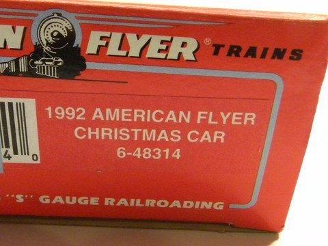 american-flyer-48314-1992-christmas-box-car-s-gauge-by-american-flyer
