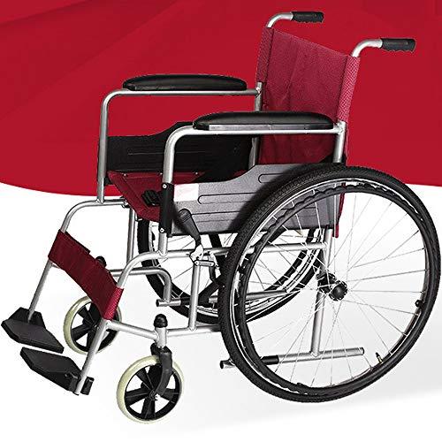 PORU RollstüHle Mit Selbstantrieb Leichtgewicht Reise Klappbarer Rollstuhl FüR Personen Mit KöRperlichen BeeinträChtigungen Und äLtere Menschen,Inflated