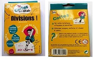 36 cartes de calculs Divisions, Les p'tits champion