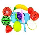 wicemoon 8PCS Kunststoff Obst Gemüse Lebensmittel Schneiden Küche Toys Set Bildungs-Spielzeug für Kinder und Kinder