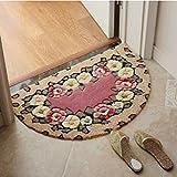 LFF Halbkreisförmige Eingangstür Schlafzimmer Küche Bad Bad Tür Wasseraufnahme Rutschfeste Matte,A,50 * 80cm