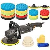 SPTA 125mm/150mm/180mm Profiset - Poliermaschine/Schleifmaschine 1200 Watt Set + Polierschwamm Zubehörset - 24 Teile - Auto polieren