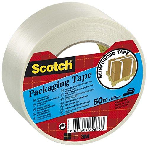 Scotch 65433 Nastro per Imballo, 50mm x 50m, 1 Rotolo, Trasparente