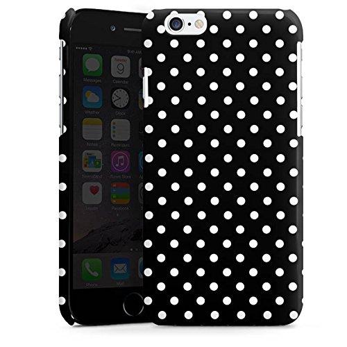 Apple iPhone 5 Housse Étui Silicone Coque Protection Points Noir et blanc Rétro Cas Premium brillant