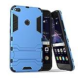 MaxKu Huawei P8 lite Hülle, Safe-Grip Outdoor Case Schutzhülle Kickstand 2in1 Hülle für Huawei P8 lite. Blau