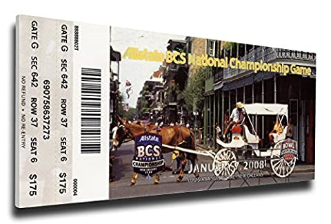 That's My Ticket 2008 BCS National Championship Game Mega Ticket Wall Decor, LSU Tigers