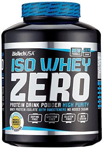 Biotech USA Iso Whey Zero, Ananas-Mango, (1 x 2.27 kg) - Zero Carb Whey Protein