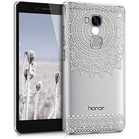 kwmobile Elegante e leggera custodia Crystal Case Design Art Deco per Huawei Honor 5X / GR5 in bianco trasparente