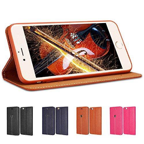 """D9Q Magnetischen Flip PULeder Cover Wallet Case Stehen Fall für iPhone 6 Plus 5,5"""" !!Brown"""