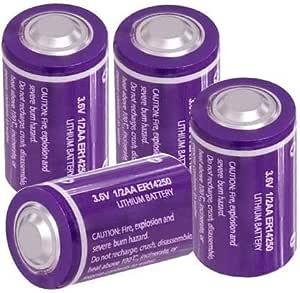 Pkcell 3 6 V 1 2aa Er14250 Ls14250 Er3s 1200 Mah Li Socl2 Batteries