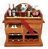 Casa Delle Bambole Completo Vino Bar Mobiletto REUTTER porcellana caffè Bistrò sala da pranzo mobili