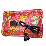 #3: SHOPEE Electric Heat Bag Hot Gel Bottle Pouch Massager Warm for Winter Aches reliever Rectangle Shaped (ASSORTED DESIGN & COLOR)