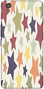 Snoogg colorful stars 2608 Hard Back Case Cover Shield For One Plus X / Oneplus X