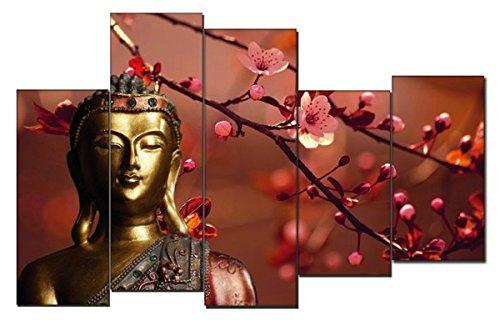 DekoArte - Cuadro moderno en lienzo Buda zen 150x100cm 6