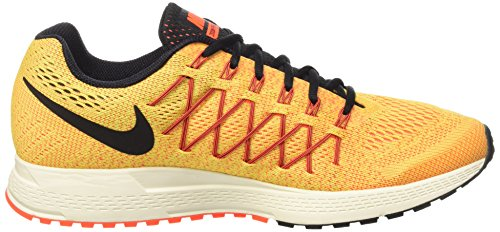 Nike Air Zoom Pegasus 32, Chaussures de Running Entrainement Homme Multicolore - Naranja / Negro / Blanco (Opt Yllw / Blk-Brght Crmsn-Ttl C)