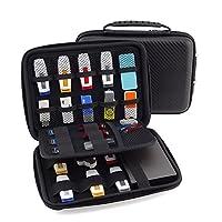 USB Flash Drive Case, Vzer Universial Portable Big Capacity Waterproof Shockproof Electronic Accessories Organizer Holder / Hard Drive Case Bag - Black