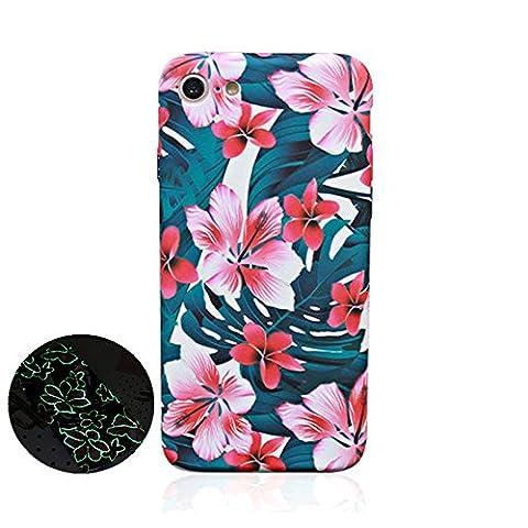 """Jinberry Matte Coque de Dessin Fleur Coloré Lumineuse pour iPhone 7 (4.7"""") / Étui Fine en TPU Souple Anti Empreintes / Silicone Peinture Housse Bumper de Protection pour Apple iPhone7 - 05"""
