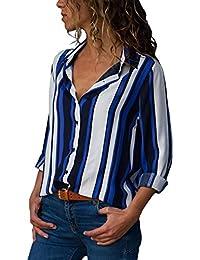 1e00ea5dfc7ee Amazon.fr   Bleu - Chemisiers et blouses   T-shirts, tops et ...