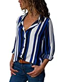 Happy Sailed Womens Summer Long Sleeve Button Down Tunics Tops Blouses Shirts Size 16 18